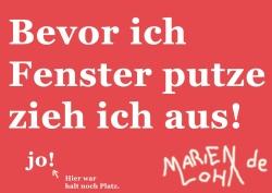 Marien Loha - Bevor ich Fenster putze zieh ich aus!